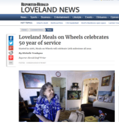 As of this month, Meals on Wheels of Loveland has been offering homebound clients healthy food and a little company for 50 years. - Click to read the article.