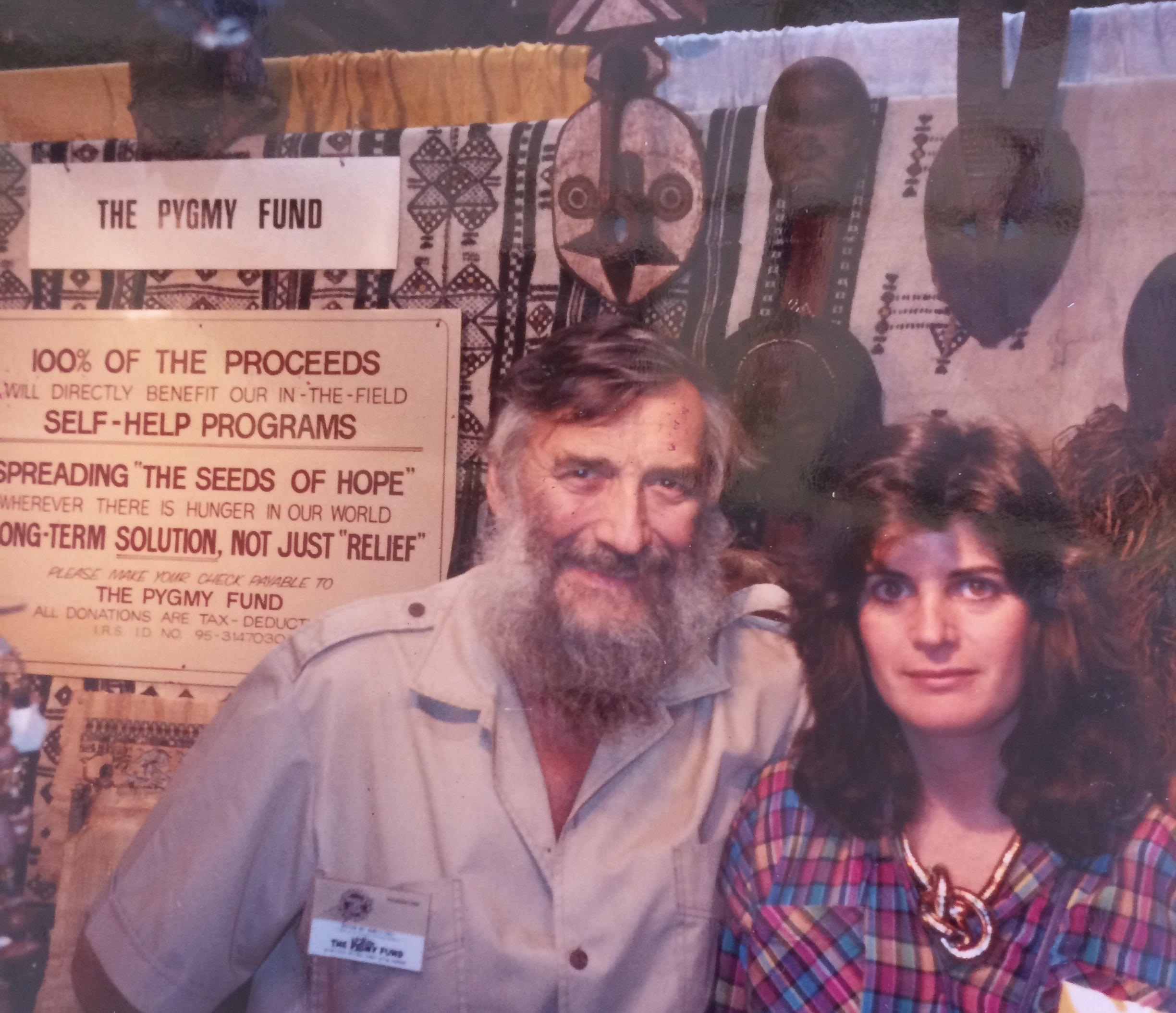 Sooz Fassberg and JP Hallet met back in 1984. Here she joined him at his shop in Santa Monica where he sold beads and African artwork to support ongoing efforts on behalf of the Pygmies.