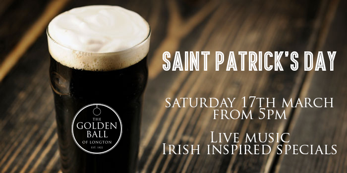Join us for Live music from Andi Bennett and Irish specials from 5pm.