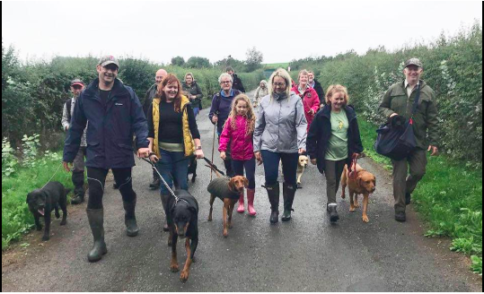 1st Birthday Dog Walk - Sunday 11th August 2019   One year on since we started our monthly dog walks, so we wanted to celebrate with an extra special walk.  This will be an 8 mile walk starting off as normal at 10am with free bacon butties and ending back at the pub with a free BBQ for all walkers