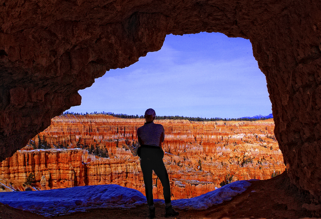 A woman surveys the scene in Bryce Canyon, Utah.  Image by New Orleans based travel photographer, Marc Pagani - marcpagani.com