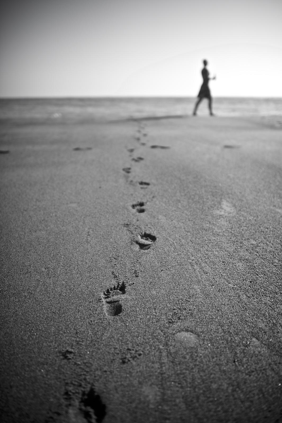 A woman on Navarro Beach in California. Image by New Orleans based travel photographer, Marc Pagani - marcpagani.com