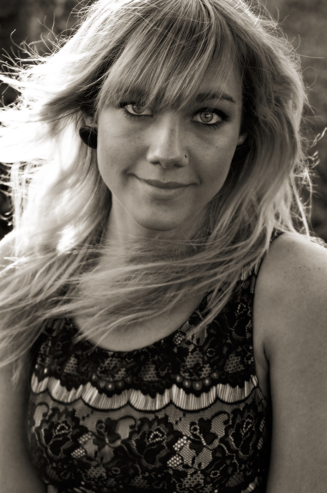 Elisa Harding in New Orleans City Park, photographed by New Orleans based photographer, Marc Pagani