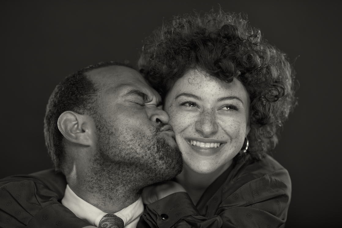 A studio portrait headshot of James Williams and Alia Shawkat.  Image by New Orleans based portrait photographer, Marc Pagani
