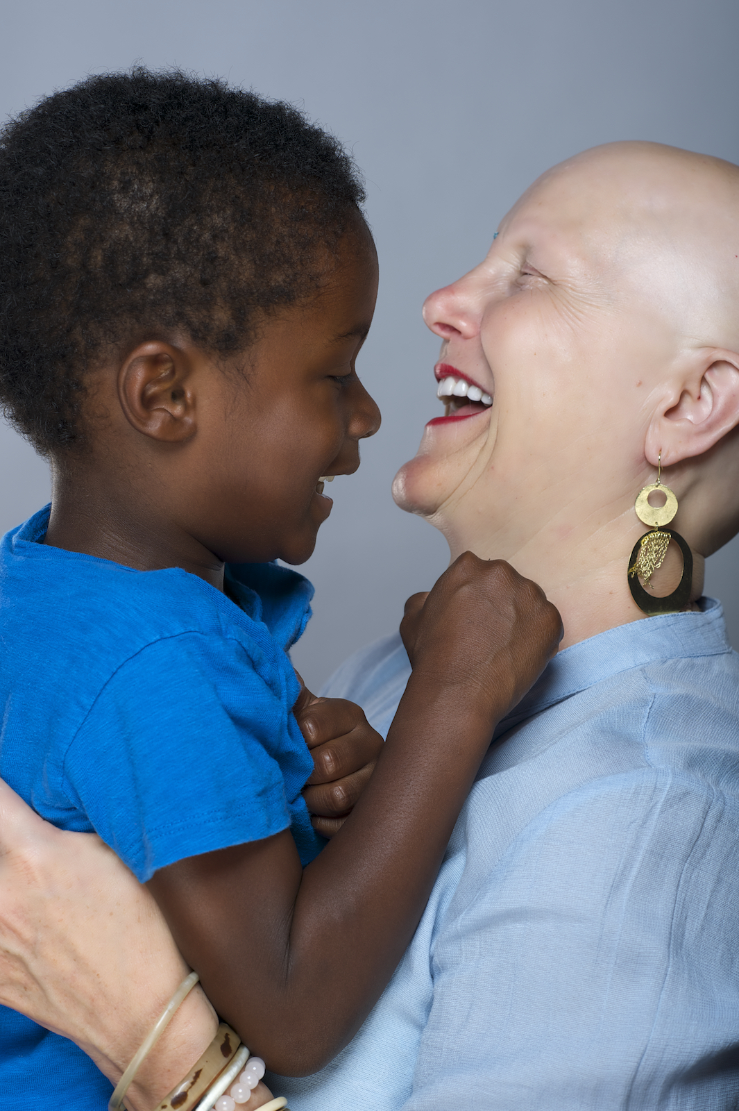 A mother and her son in the studio.  Photo by New Orleans based photographer, Marc Pagani