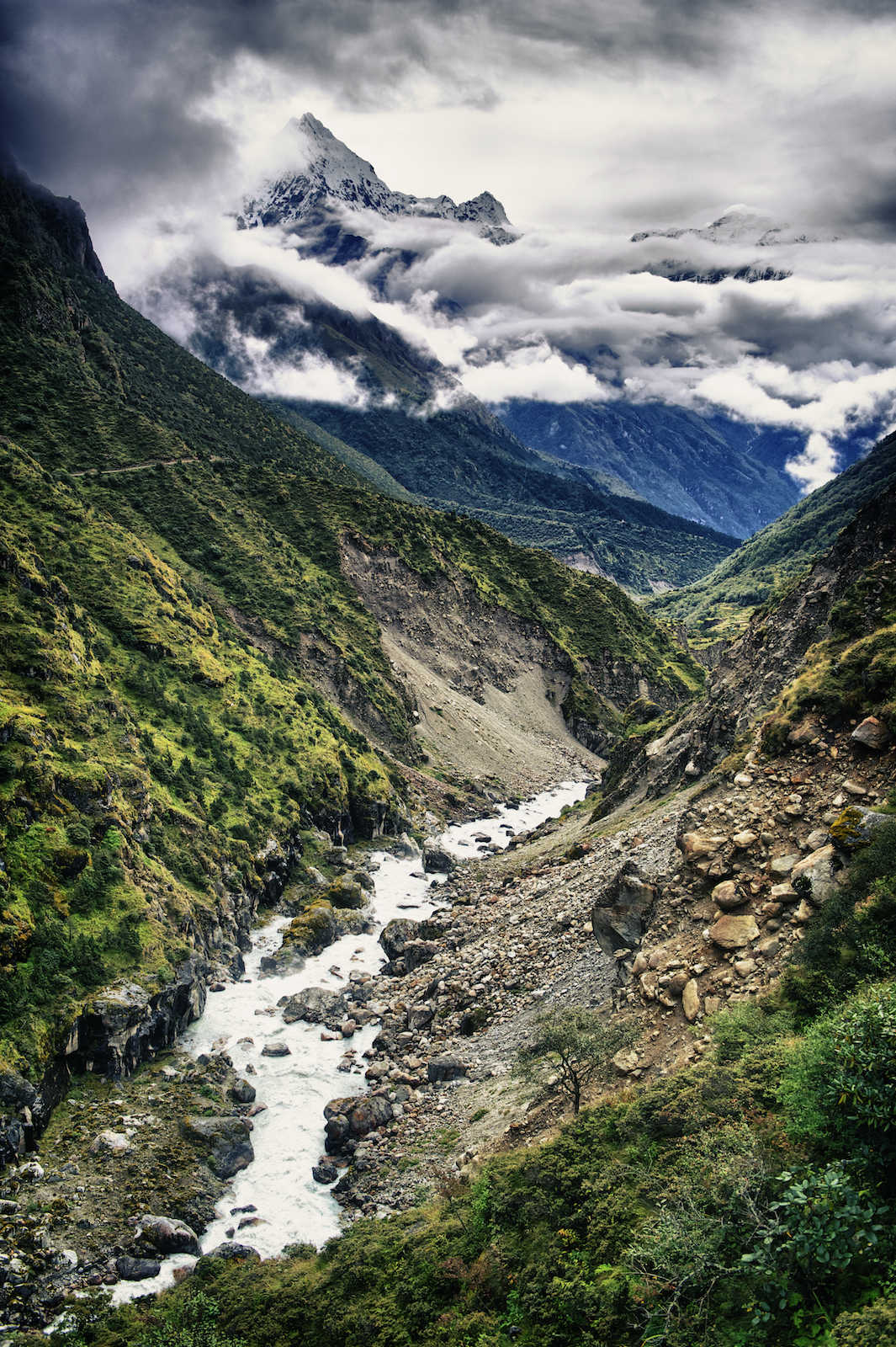 The Bhote Khosi River in the Nepal Himalayas. Image by New Orleans based travel photographer, Marc Pagani - marcpagani.com