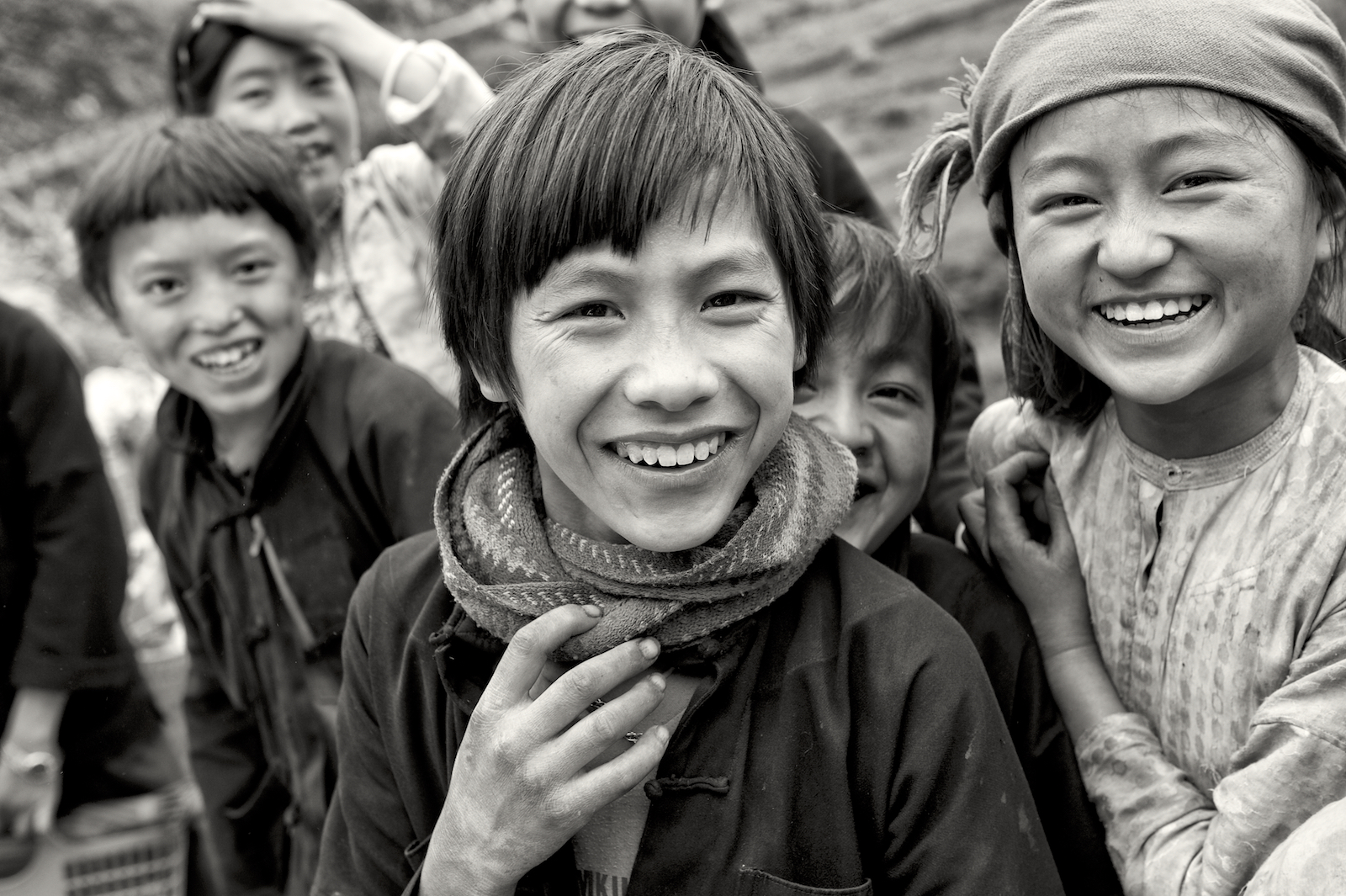 Children in northeastern Vietnam.  Image by New Orleans based travel photographer, Marc Pagani - marcpagani.com