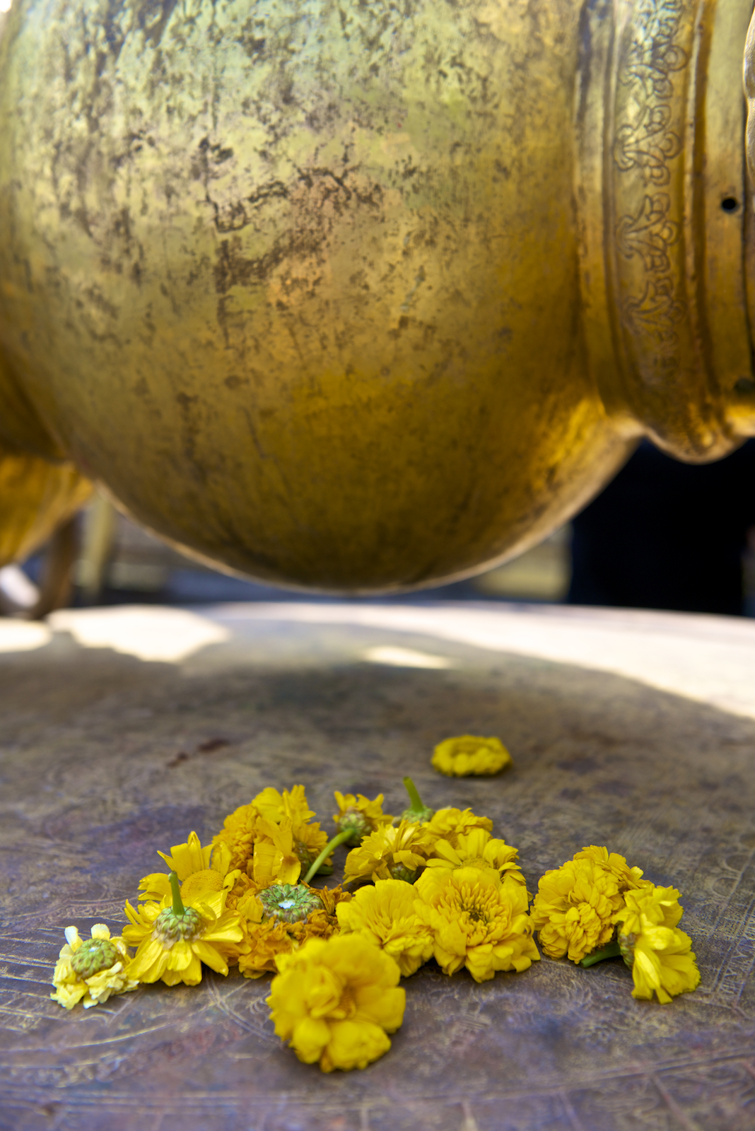 Flowers at Swayambhunath Temple, Kathmandu Nepal.  Image by New Orleans based travel photographer, Marc Pagani - marcpagani.com