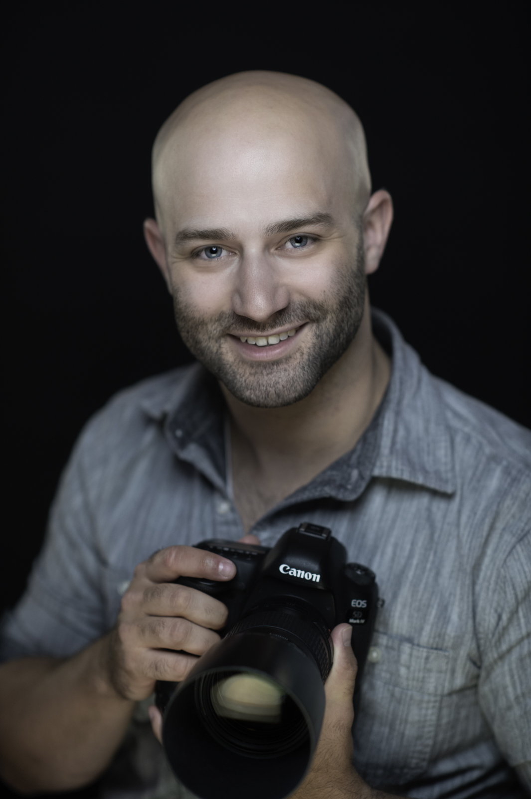 A studio portrait headshot of  photographer Noel Marcantel.  Image by New Orleans based portrait photographer, Marc Pagani