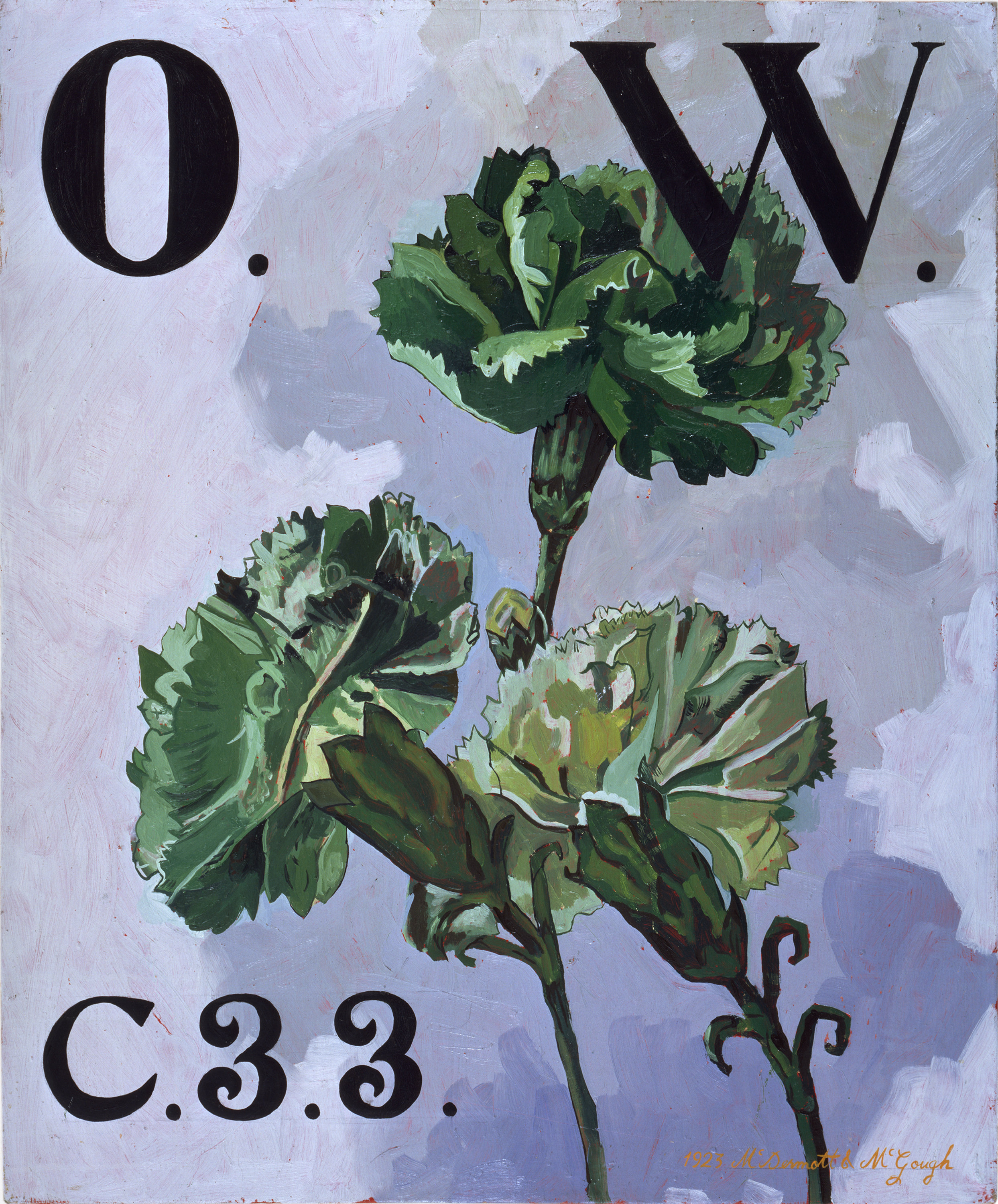 McDermott & McGough,  The Green Carnation, Oscar Wilde, O.W. C.33,   1923,  Oil on Linen, 1994 (Courtesy of the Artists)