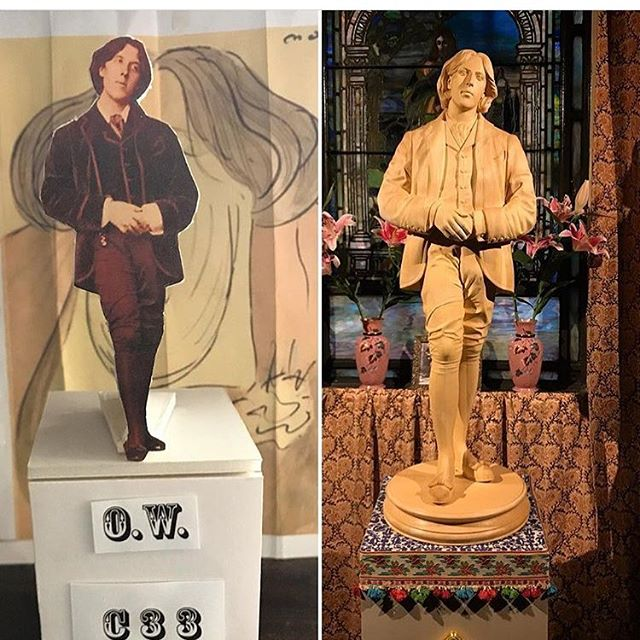 Repost @petertmcg only 2 weeks remaining to see the Oscar Wilde Temple at the Church of the Village at 201 West 13th St in Manhattan! Open Tuesday to Saturday 12-7, Sundays 12-3. 🍀🍀🍀