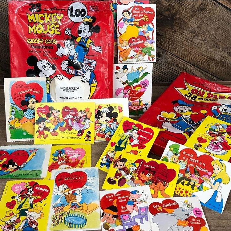 Vintage Disney Valentines, $1 each, $19.50 for Sealed Box