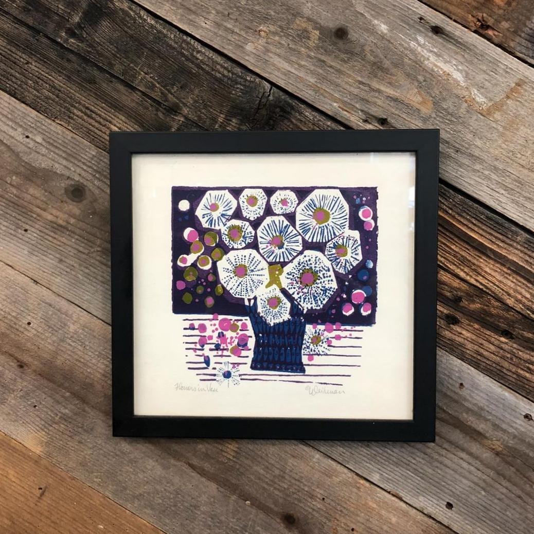 "David Weidman ""Flowers & Vase"" Framed Print"