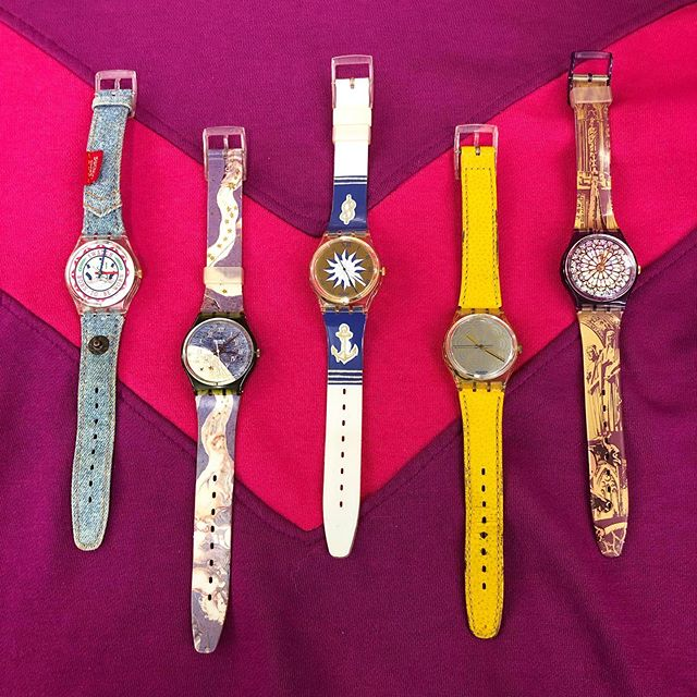 Some amazing Swatch watches just arrived at the shop 🕰