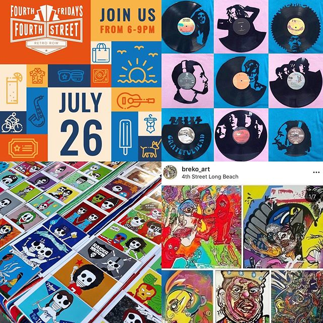 It's Fourth Fridays tomorrow night and here's what you can expect at the shop: 🎶 @venicevinyls hand-cut vinyl art, 💀 @ninoskaarte Dia de los Muertos pop culture art, 🖼 @breko_art prints & more!