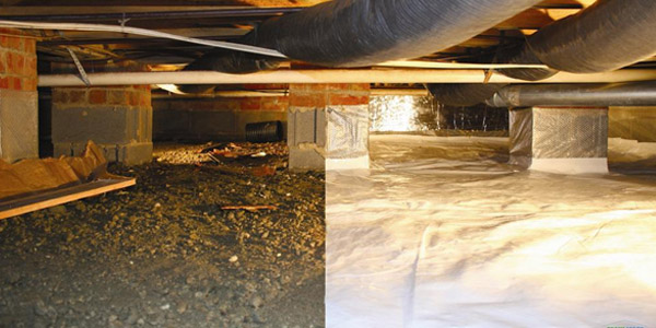 Encapsulation in Crawl Space and Basements