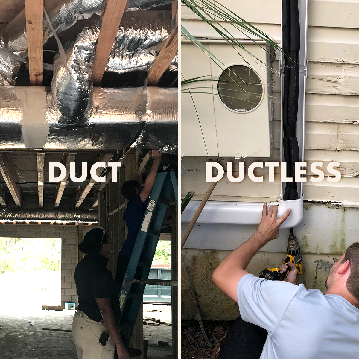 DUCT compared to DUCTLESS