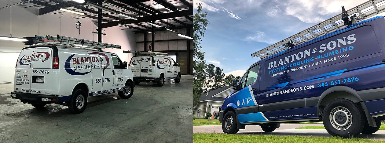 Utility vans of Blanton's