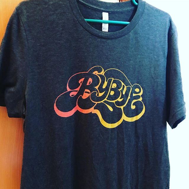 New limited edition BYBYE shirts will be available tonight at our show, or order online at www.bybyemusic.com/store