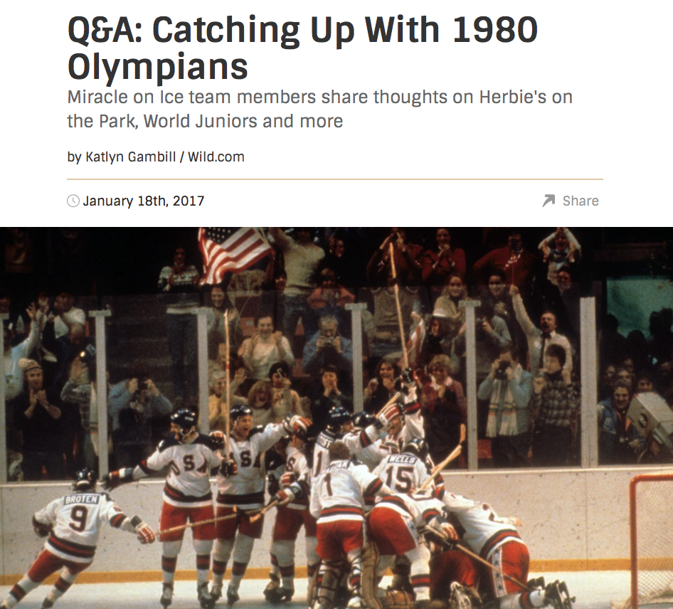 - Wild.com caught up Wednesday with three members of the 1980 United States Olympics Miracle on Ice team, who were at Herbie's on the Park for the unveiling of the new 11-foot tall statue of legendary coach Herb Brooks.What do you think of Herbie's on the Park and the new statue of Herb Brooks outside?John Harrington:It's the first time I've been here, so I haven't really seen too much of it yet. ... It's going to be a lot of fun. It's really special to be here;certainly a re-recognition to have a new statue of Herb out there, so I'm excited about that, and to get a chance to see all our teammates from the 1980 team is always fun.Rob McClanahan:I think it's fantastic. Obviously, it's a great tribute for a guy who I consider a great coach. I saw them replacing [the statue] and I think it's a much better version.For the full article please click here.