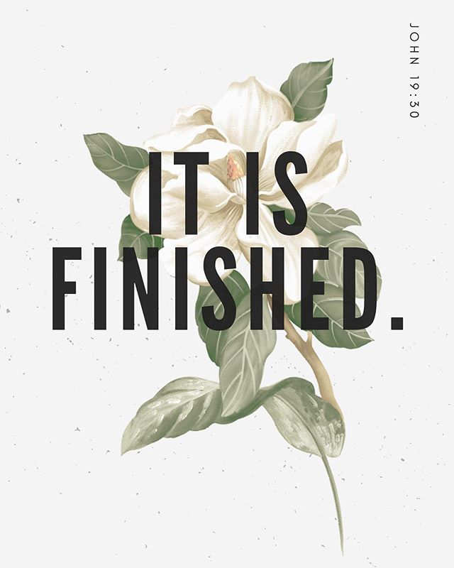 It is finished. -John 19:30 — This Good Friday we remember the crucifixion of Jesus.  I'm overwhelmed that Jesus loved this flawed human enough to sacrifice himself to save me.  Spending some time reflecting today with the hope of Easter coming. — . . . . . #noxandquillscreative #noxandquills #typography #communityovercompetition #creativeprenuer #creativeentrepreneur #graphicdesigner #graphicdesign #smallbusinessowner #smallbusiness #girlboss #beingboss #creativityfound #calledtobecreative #risingtidesociety #flashesofdelight #designisinthedetails #dowhatyoulove #lifeofadesigner #liveauthentic #solopreneur #branding #brandyourbusiness #smallbusinessbranding #easter #goodfriday #goodfriday2019