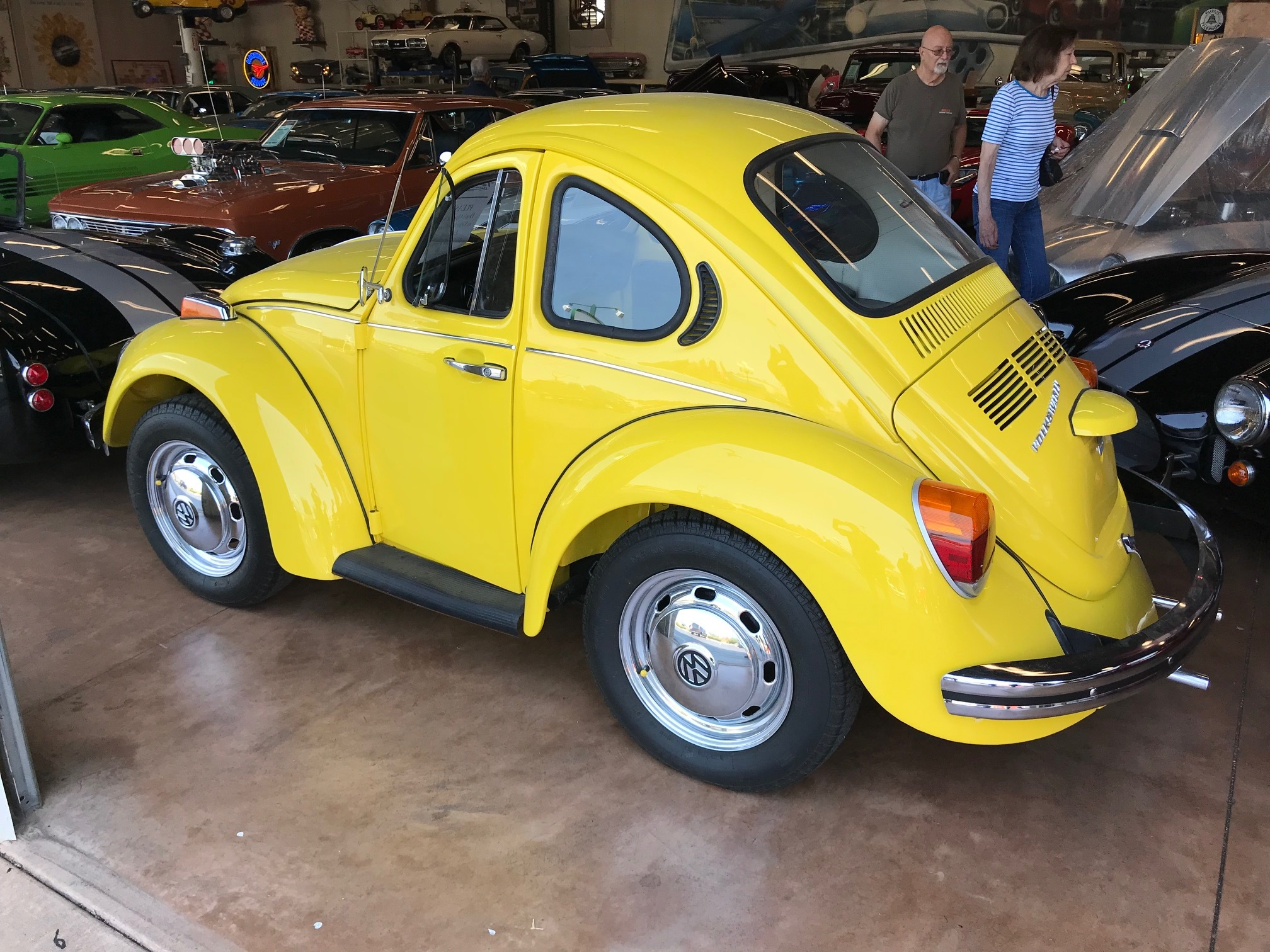 A 1974 VW Bug with shortened, back seat removed. I'm still not sure who can drive this!