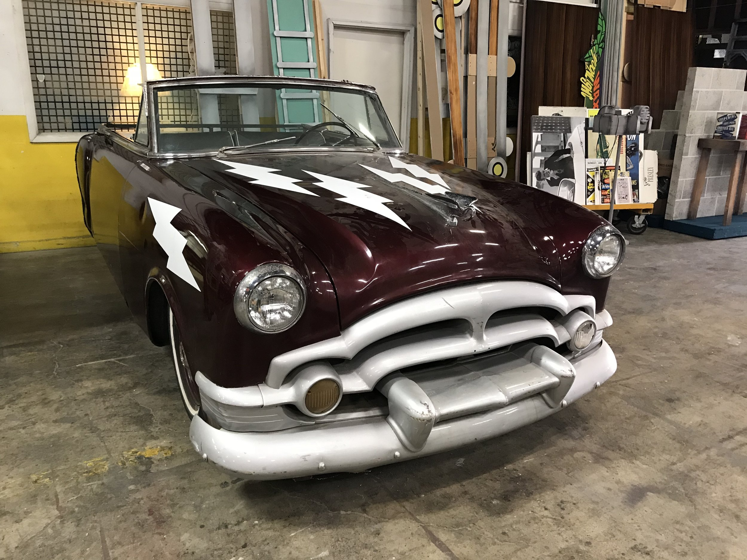 The front end of the Packard prop.