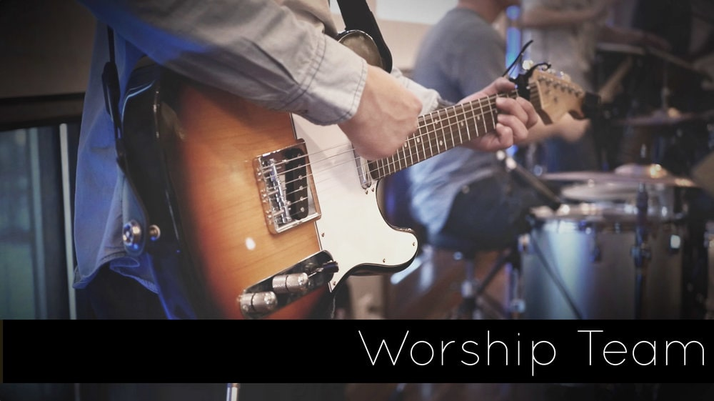 When joining the worship team, you will need to commit to regular practices. Every Wednesday we meet to worship and pray together, and prepare for the following Sunday.