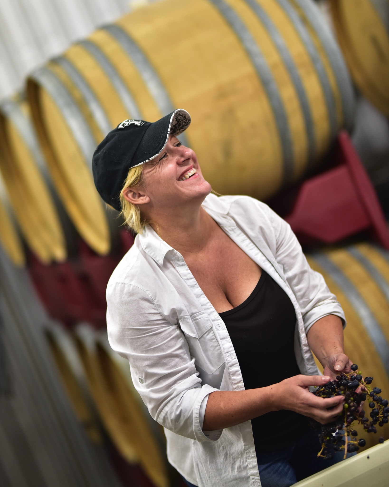 Barbara in the winery at Hawks.jpg