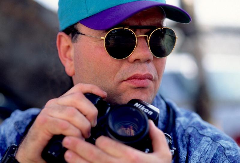 Photographer Richard Aaron in action.