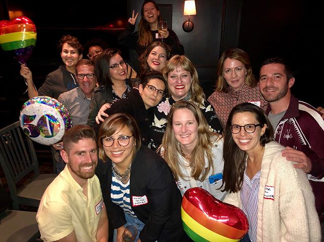 I'm an aspiring gay pied piper. Thanks to my fellow LGBTQ+ folks who work in sync licensing for coming to this gathering!!! Queer Sync Fam Forever! #queersyncfam #stonewall50 🌈🌈🌈 s.o. @heyitscrdb for finding us an awesome private room at @villageidiotla