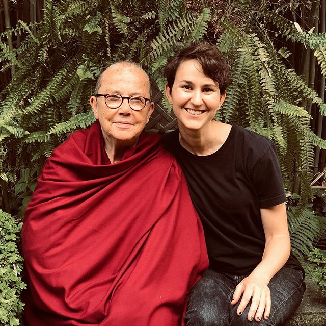 Yesterday afternoon in Brooklyn with the real deal — my teacher Ven. Robina Courtin ❤️ For those in NYC, she's teaching for the next couple weeks at Shantideva Center in Park Slope. Check her out! @robinacourtin #robinacourtin #buddhism #tibetanbuddhism