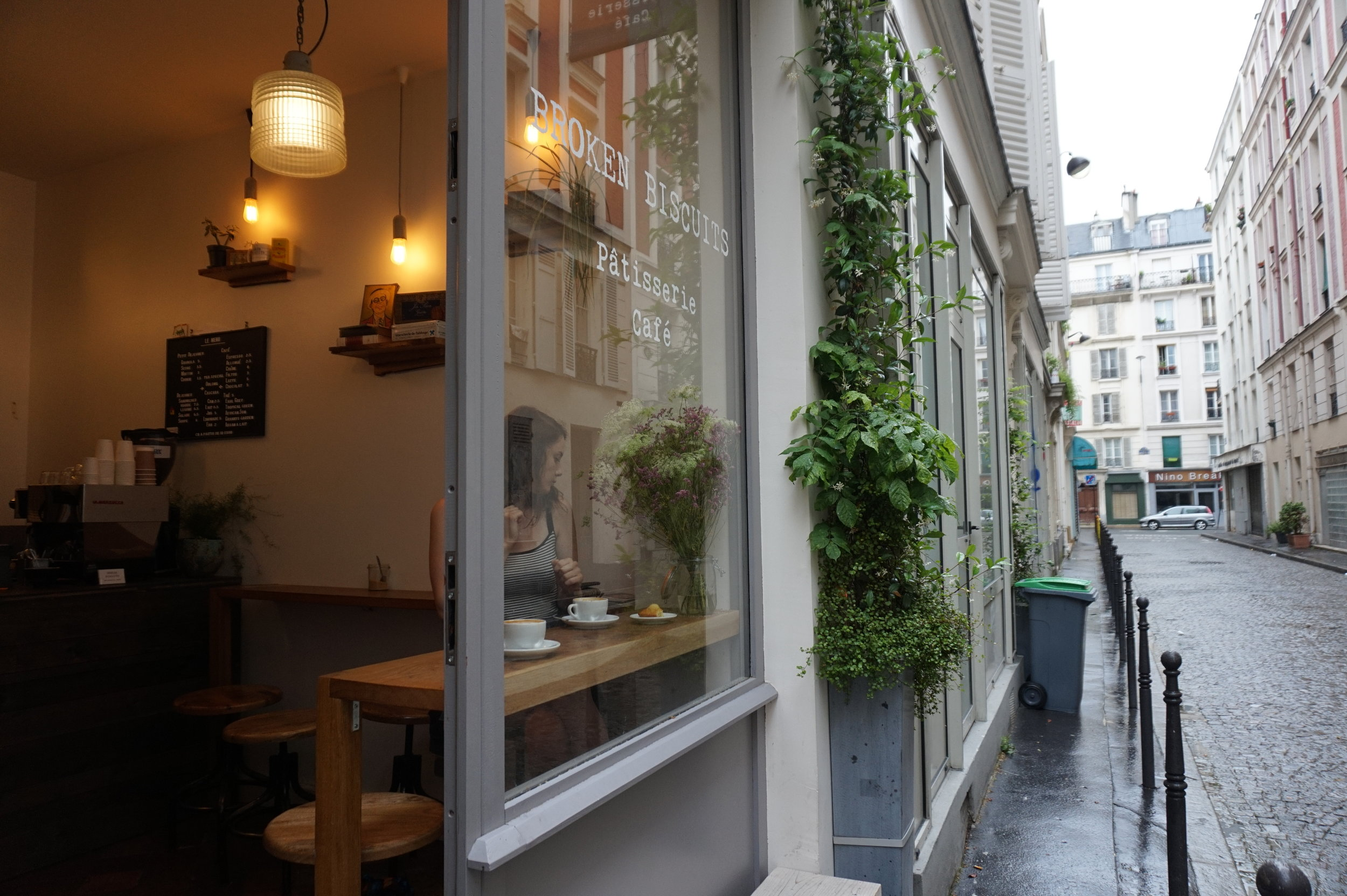 French culture is all about sitting in cute coffee shops like this one for hours on end...