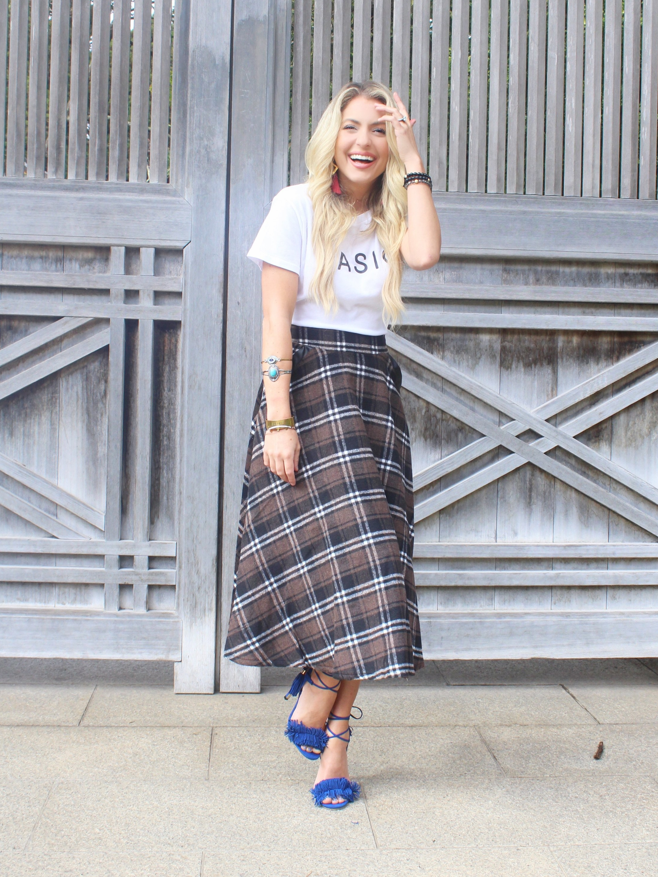 Plaid Midi Skirt Full Length.jpg