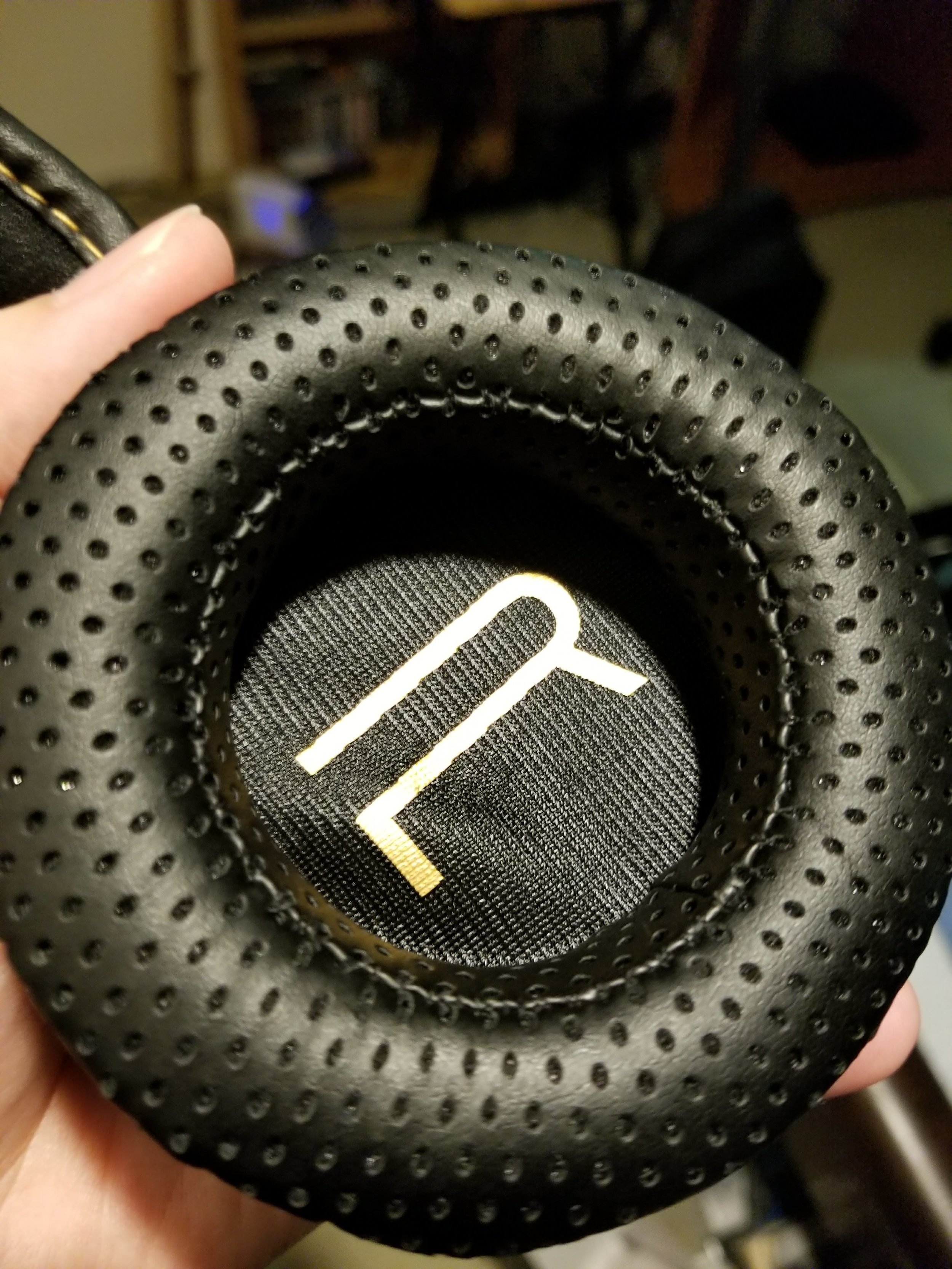 The right ear cup has a big R in it, similar to other RIG headsets. It's the only garish thing about the design.