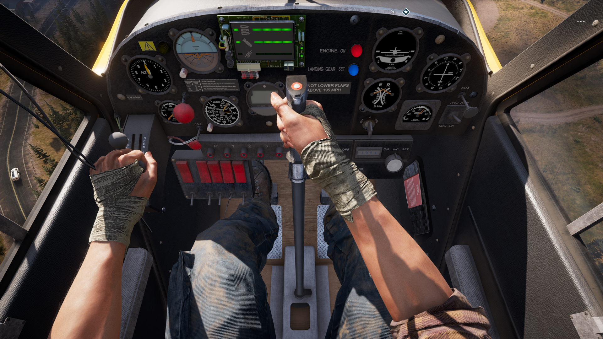 Far Cry 5 has really detailed cockpits in it that you barely ever see, because you're too busy playing the video game and not looking down and pressing the screenshot button like me.