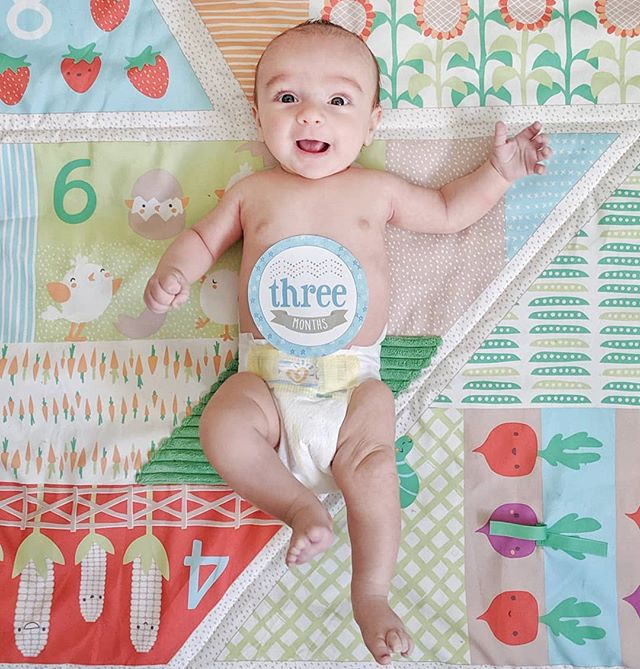 #3months with our little farmer! 💚 It's so incredibly exciting to watch you grow and change before our eyes #tristanfelix. Your sweet smile makes everything feel bright and full of wonderment.✨ #12monthsoftristanfelix