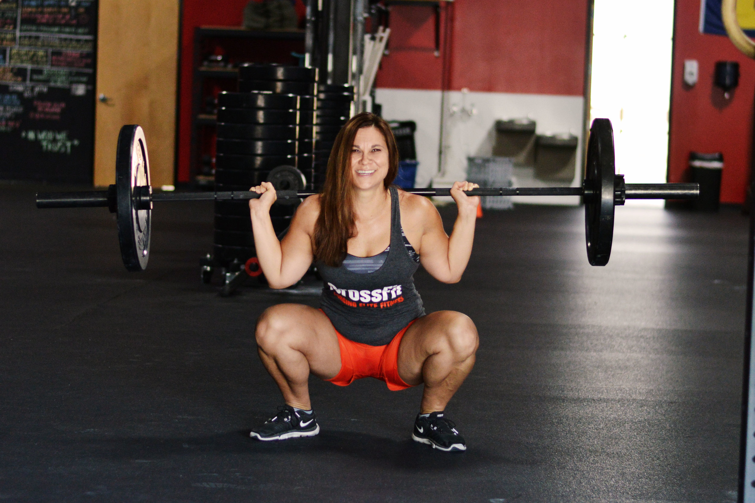 Amie McDaniel - Before I started CrossFit, I thought it was only for the super fit. I started at the box on my 41st birthday. I was very intimidated by CrossFit before coming to CrossFit Obsession. I was worried that I would embarrass myself and I was worried about getting injured. After all, I'm not getting any younger.Now, I'm hooked. I feel healthy, strong, and confident. In the beginning, it was the encouragement I received at CFO that kept me coming back. Now I'm motivated by the results I see in myself and it keeps me coming back for more.The community at CrossFit Obsession is amazing. The people here have been my biggest supporters. The coaches are also fantastic. They are very conscious of everyone's abilities and consider safety to be a priority. They ensure proper form is used to prevent injury. They go out of their way to make everyone feel welcome and to become the best they can be.