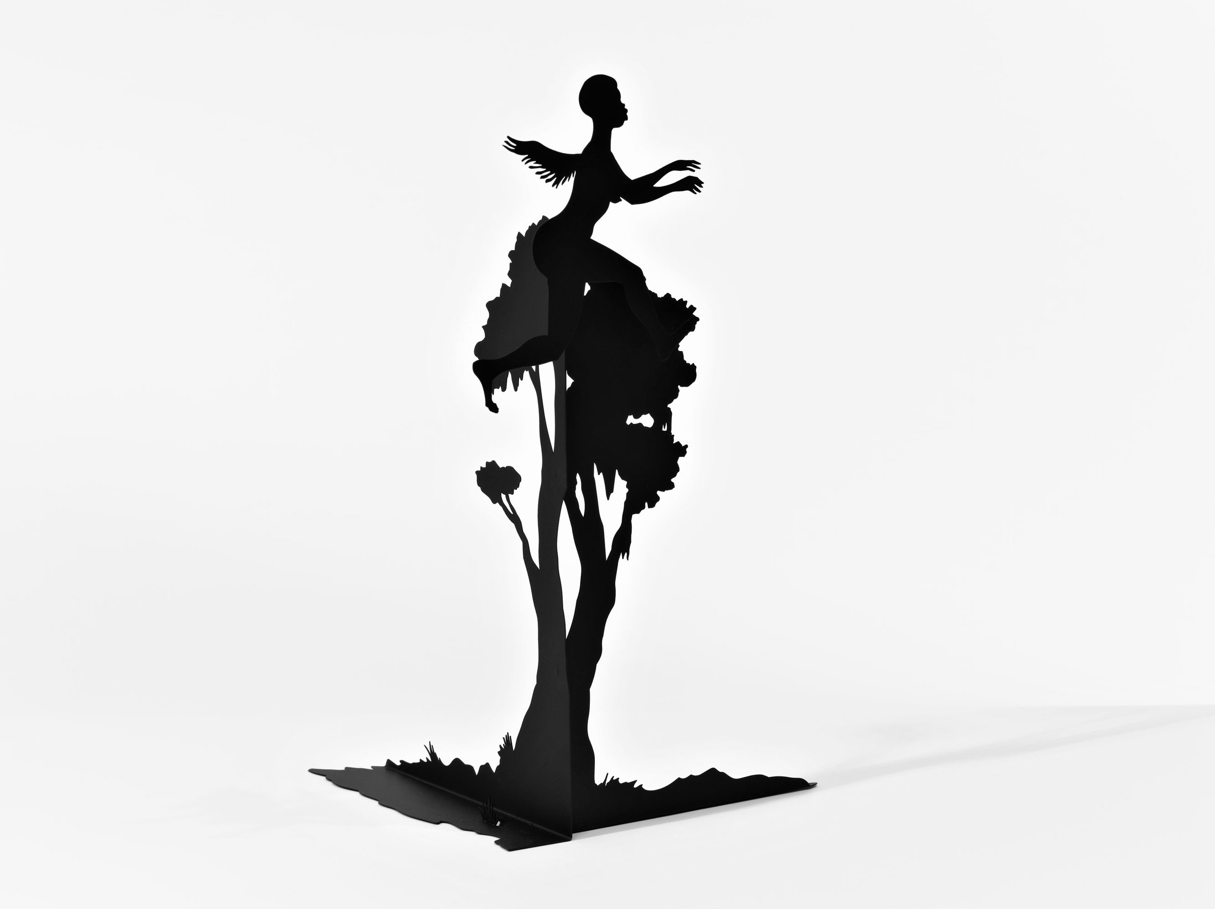"""""""Detail,"""" Burning African Village Play Set with Big House and Lynching, 2006. Painted laser cut steel, 22 parts, dimensions variable  © Kara Walker. Image courtesy of Sikkema Jenkin & Co., New York."""