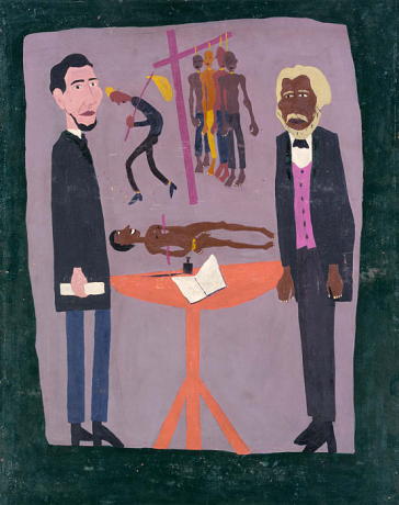 Let My People Free, 1945, oil on paperboard 38 1/4 x 30 in., © William H. Johnson, Smithsonian American Art Museum, Gift of the Harmon Foundation, used with permission.