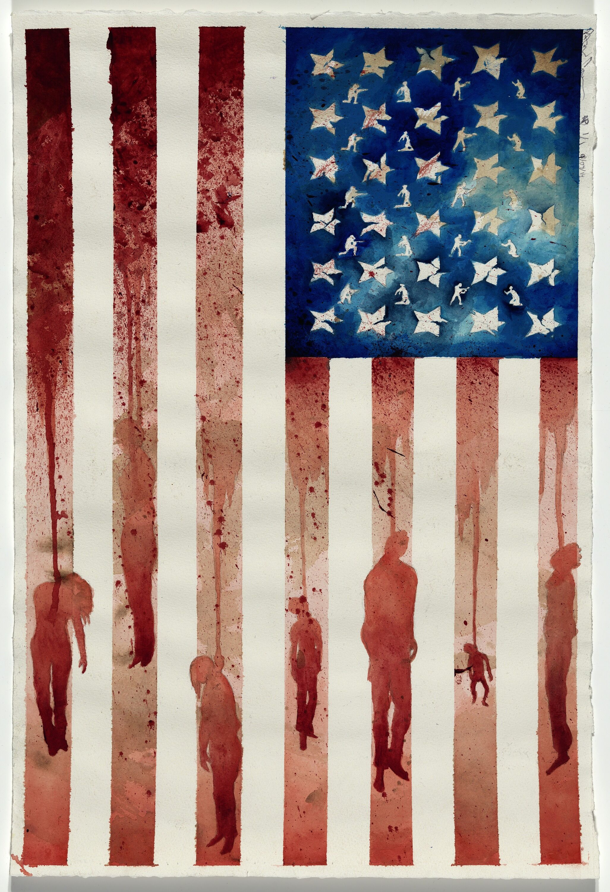 New Age of Slavery, 2014. Watercolor on paper. Collection of the Smithsonian National Museum of African American History and Culture. © Patrick Campbell Art and Illustration.