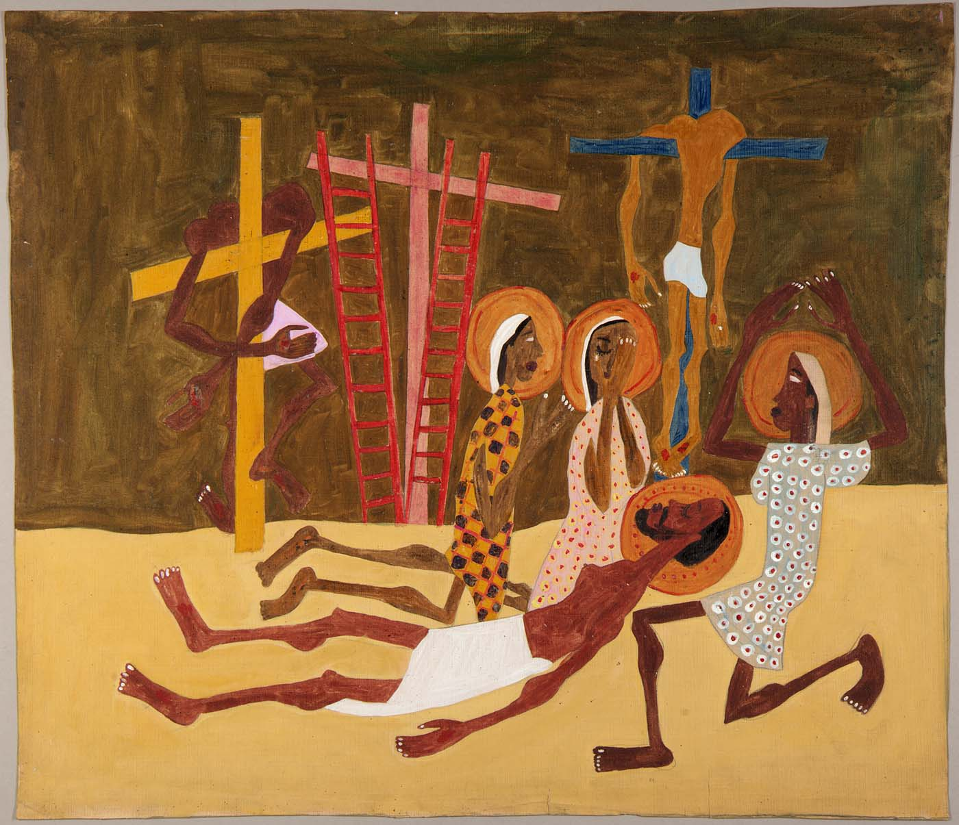 Lamentation, 1944, tempera and pencil on paper 19 1/4 x 22 3/8 in. Smithsonian American Art Museum, Gift of the Harmon Foundation, used with permission.