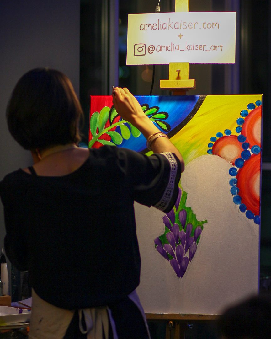 Live Painting in Progress