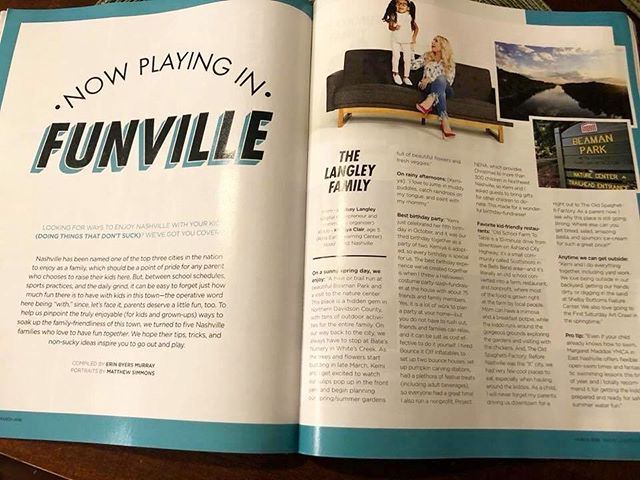 Pick up the newest issue of @nashvillelifestyles and check out the Now Playing In Funville feature with our very favorite Pair Of Clairs ... @lynclair and Kemi! 👱🏻‍♀️👧🏽 #hearmeroar