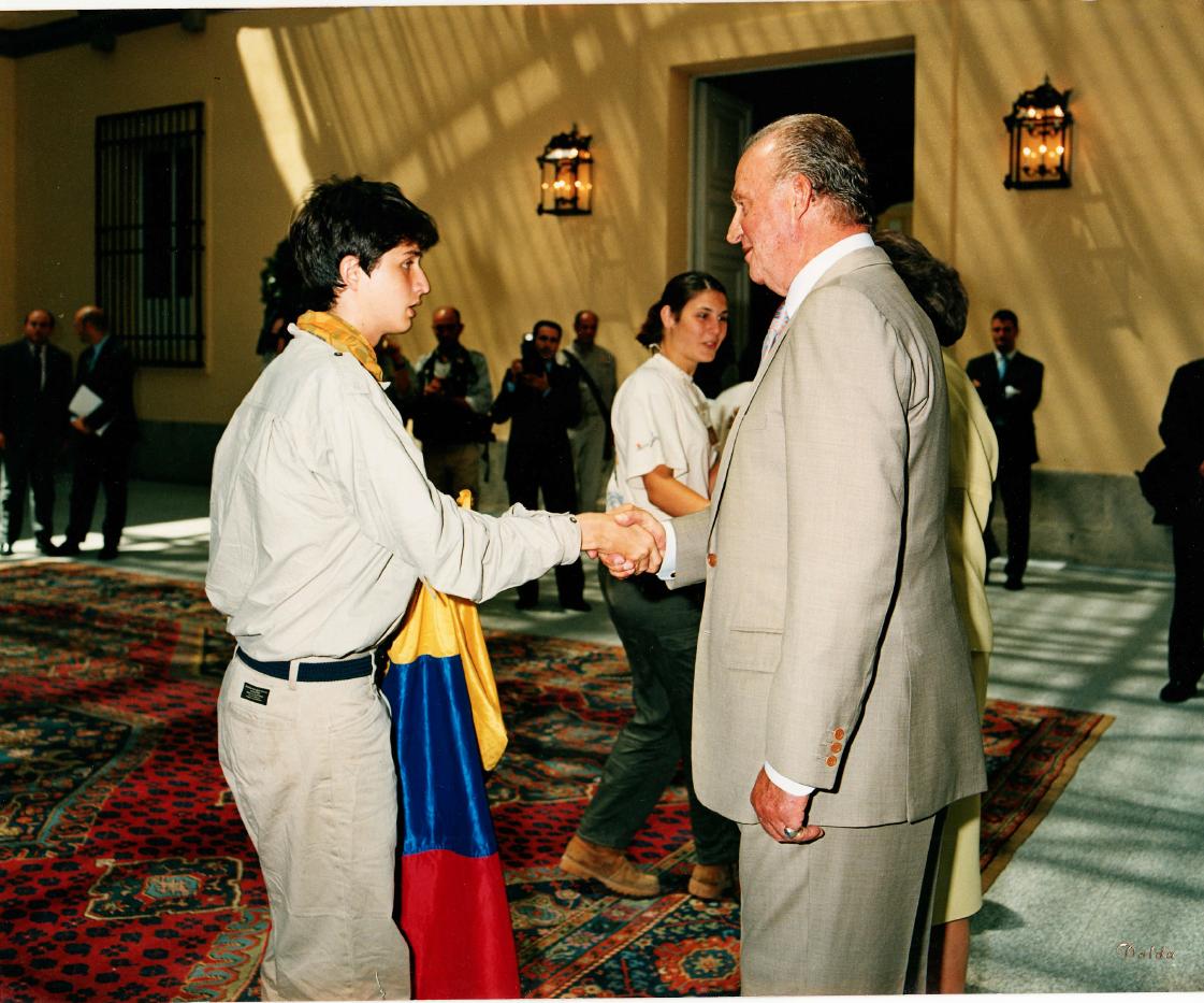 El Escorial Palace, Madrid - Meeting the former King of Spain