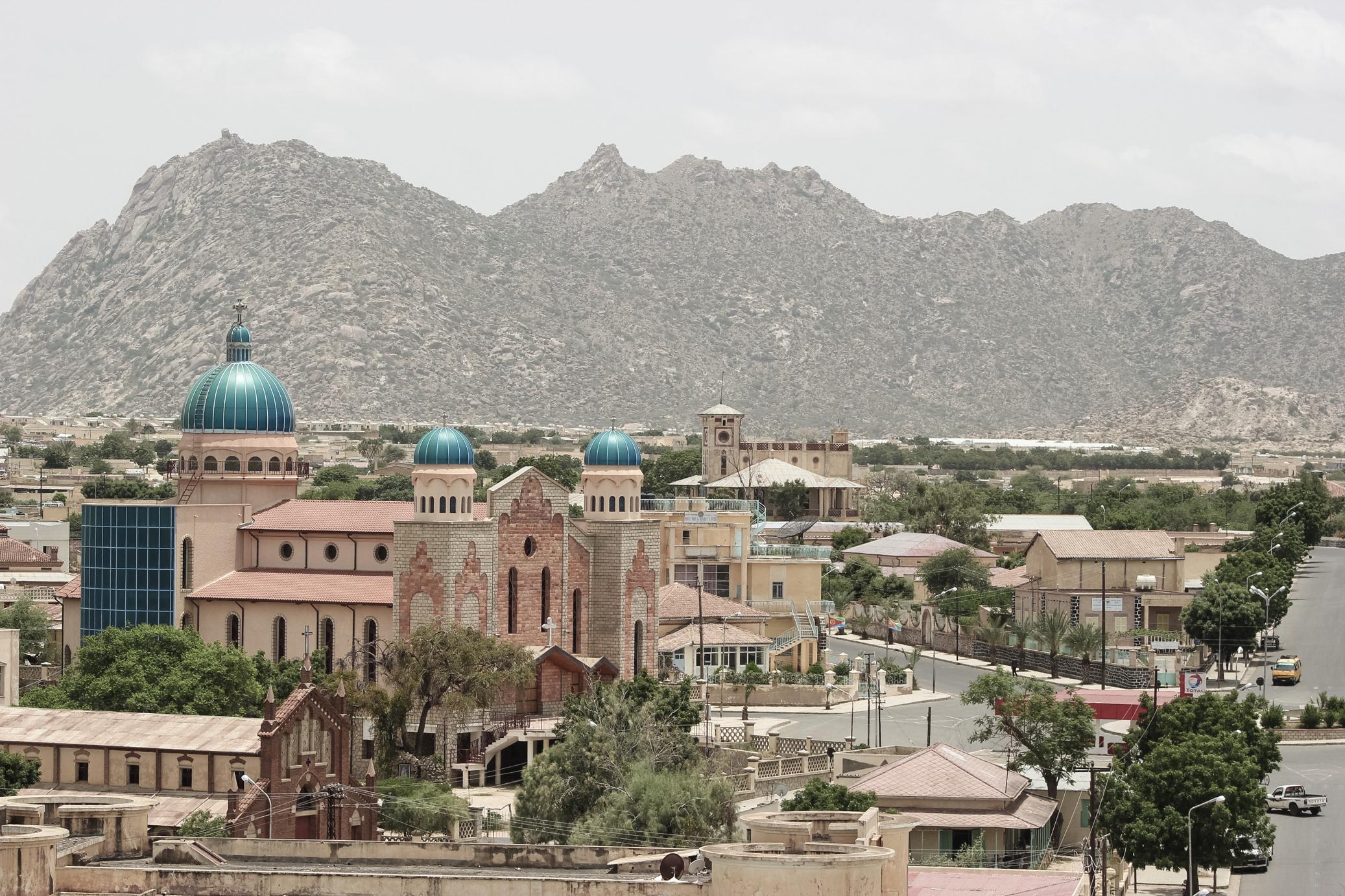 The city of Keren in Eritrea
