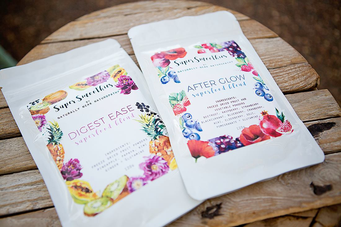 Project Goddess and Naturally Neak Naturopthay smoothie powders