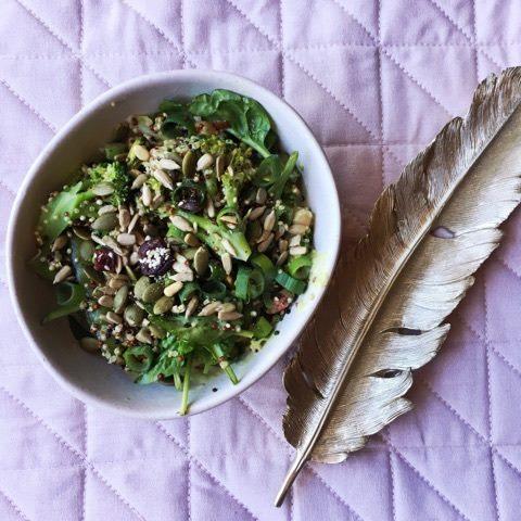 Green Goddess Quina Bowl healthy vegan salad