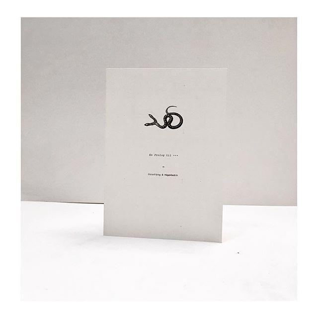 """En prolog til ...  Skreven av Otio Yüng og Hägenbeck jr. til DOTDOTDOT sin utstilling """"URBEAUX"""" i 2015."""
