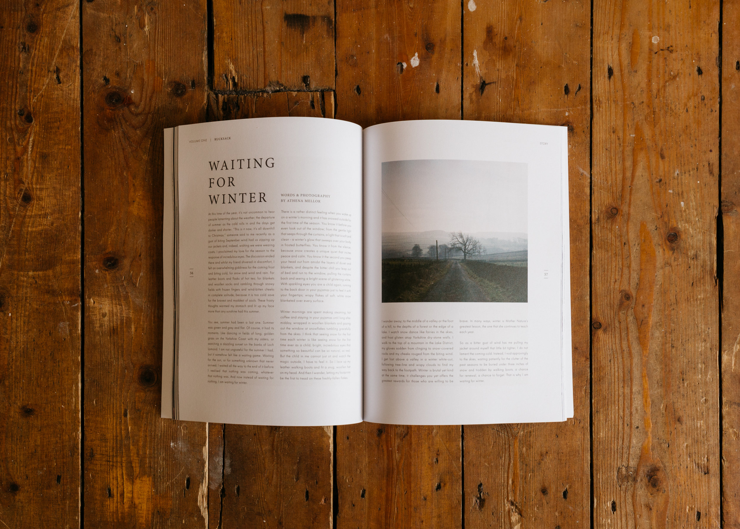 'Waiting for Winter', featured in Rucksack Magazine